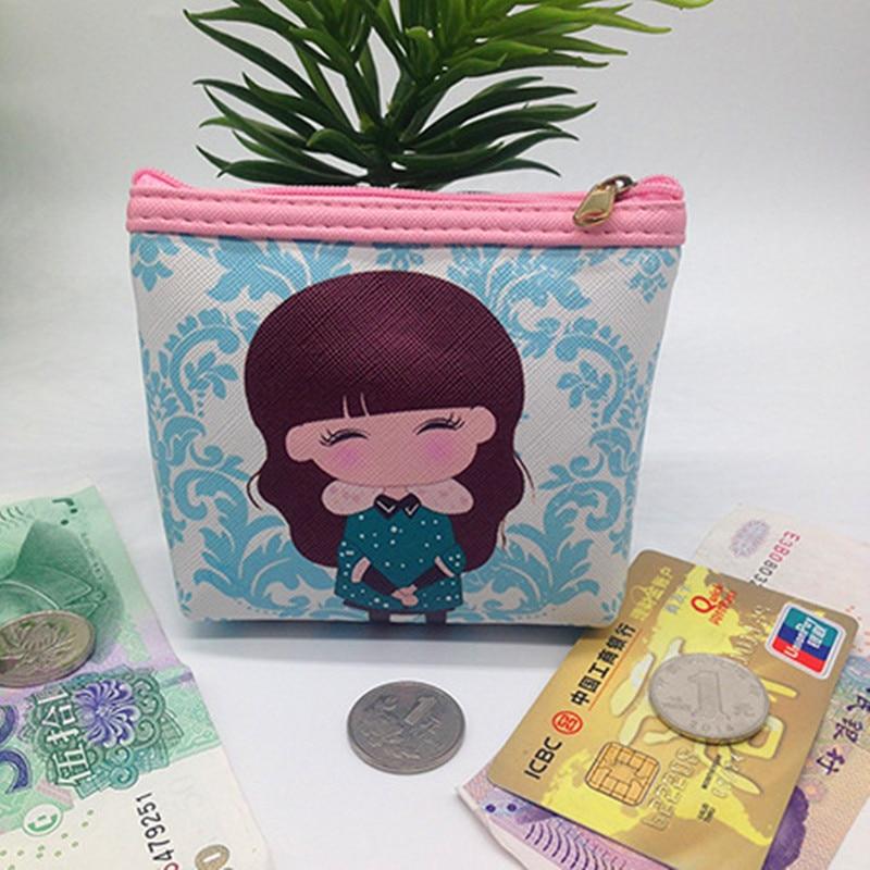 Kawaii  Fashion Girl Cartoon Key Coins Zero Wallet Coin Purses Lovely Children Cards Bag Kids Wallets 20Kinds coin purses the movie aladdin and the magic lamp pattern lamp zero wallet coin bag children birthday gift lqb1058