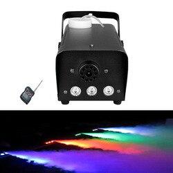 Mini 500 w bomba de máquina de fumaça de controle Remoto Sem Fio LED RGB palco dj máquina de fumaça de discoteca para festa do casamento do Natal LEVOU fogger