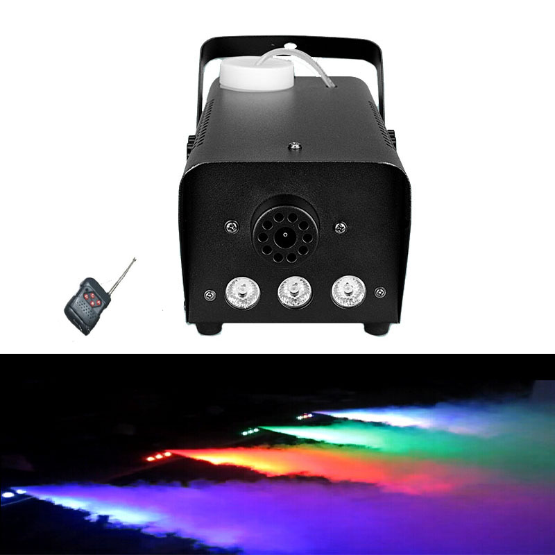Mini 500W LED RGB Wireless Remote Control Fog Machine Pump Dj Disco Smoke Machine For Party Wedding Christmas Stage LED Fogger