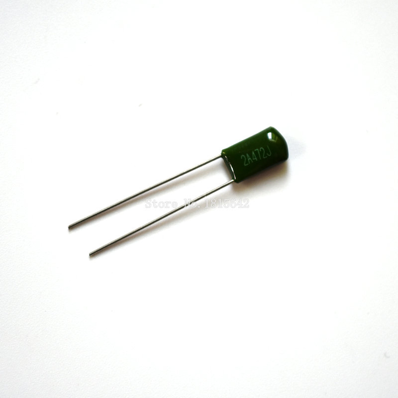 100PCS/LOT 2A472J 100V 0.0047UF 4700pF Polyester Film Capacitor Capacitance