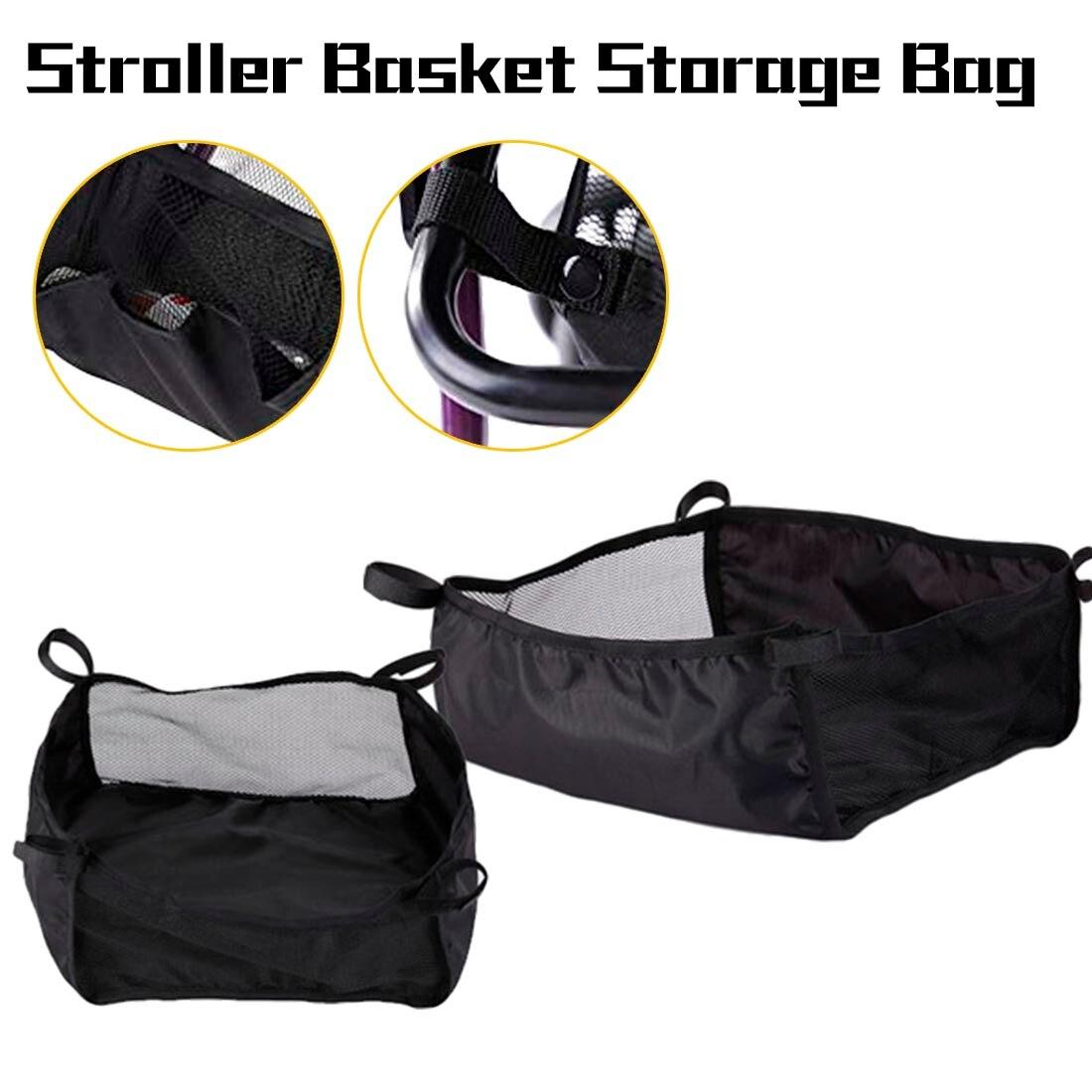 Pregnant Mother Stroller Basket Storage Bag Universal Portable Shopping Basket Baby Care Infant Stroller Accessories