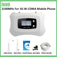 New Upgrade Intelligent 2100mhz For 3G Mobile Signal Booster Amplifier Mini 3g Repeater Kit With LCD