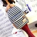 Hot Sale 2016 Fashion Women School Bag Pack High School Bags Lady  Casual Women Backpack Stripe Canvas F442