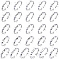 bamoer Unisex Silver 925 Sterling Letter Rings for Women Men A-Z 26 Resizable Initial Alphabet Jewelry Female Accessories SCR544
