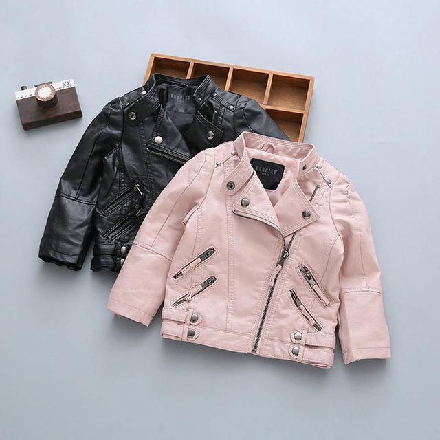 b329c4625 2017 bebé niño recién nacido Ropa motocicleta cuero abrigos moda prendas de  abrigo primavera otoño Niños