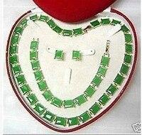 Благородных комплект редко изумруд 18KGP ожерелье браслет серьги > * 18 К позолоченные часы оптовая продажа кварцевые камень CZ кристалл