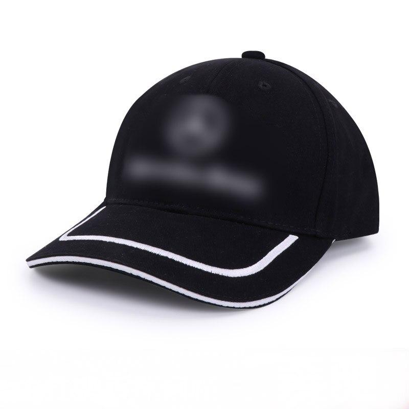 黒コットンキャップメルセデスベンツのロゴ野球帽トラック運転手ハンチング屋外サンボンネットキャスケット車スタイリング