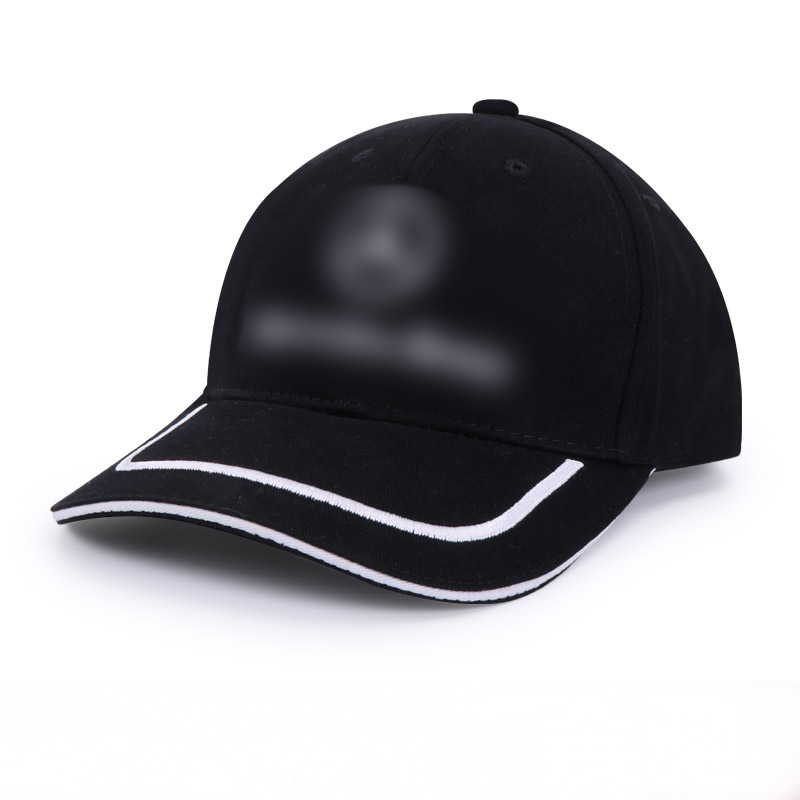 Black Cotton Peaked Cap For Mercedes Benz Logo Baseball Hat Trucker Peaked Cap Outdoor Sunbonnet Casquette Car-styling