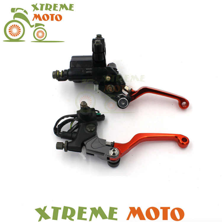 Brake Lever Master Cylinder + Cable Clutch Perch For KTM EXC XC XCF XCW  SX SXF SXS125 150 200 250 300 350 400 450 500 505 stunt short mx clutch lever perch 2 fingers for ktm exc excf sx sxf sxs xc xcw xcf lc4 smr excw off road motorcycle