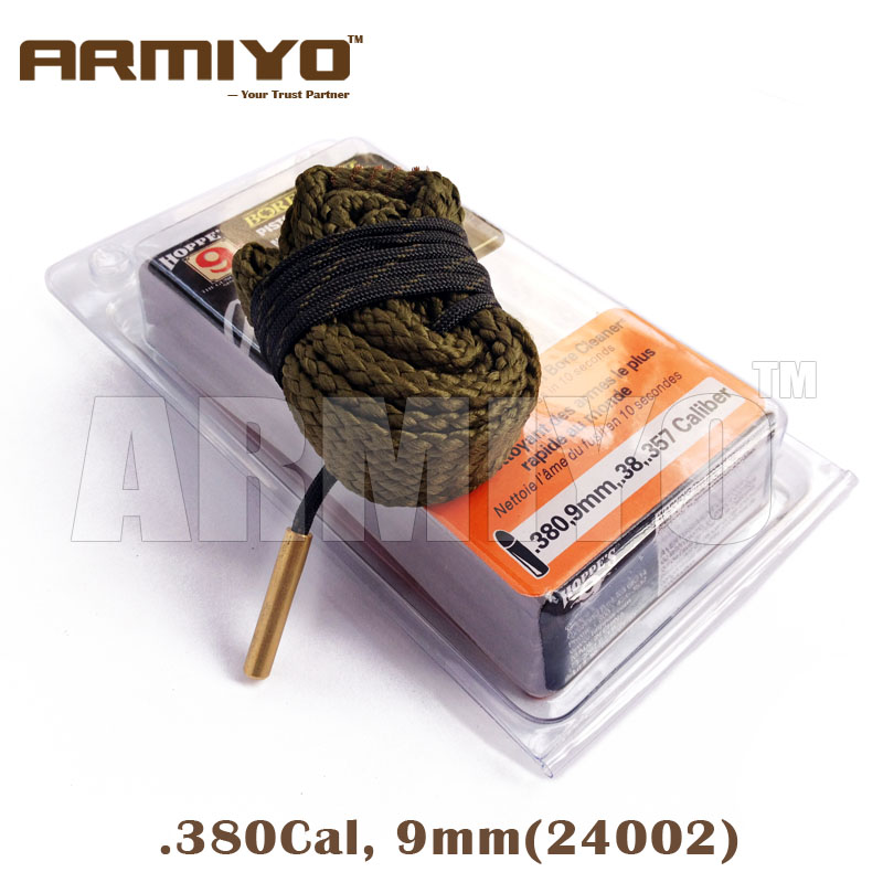 Armiyo Bore Snake .380 9mm .38  .357 Cal Pistol Bore Cleaning Sling Gun Barrel Cleaner 24002 Hunting Shooting Clean Kit Tool