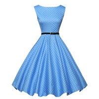 Frauen Sommer Stil Inspirierte Vintage Kleidung Retro 50 s Große Schaukel Audrey Hepburn Polka Dot Plus Größe Frau Kleider #0015