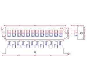 Image 4 - Chunzehui F 1012 12 موقف 45A أقطاب كابلات كهربية توزيع كتلة وحدة ، موصل الطاقة الفاصل الموزع مصدر قطاع.