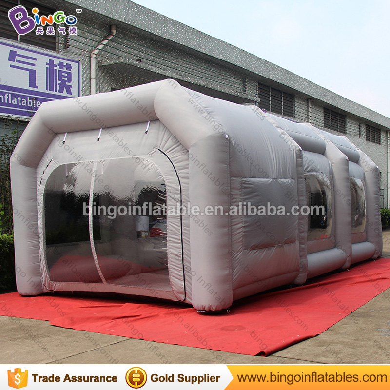 Light grey paint booth 8*4*3m inflatable portable spray tent for car used toys