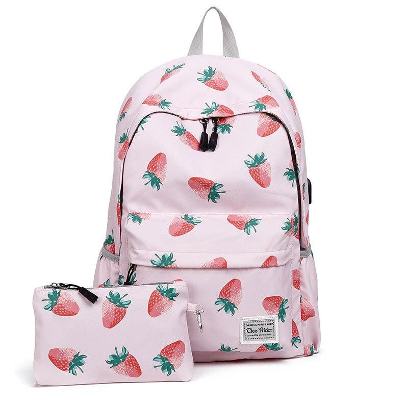 Fashion USB Charging Backpack School Bags for Teenage Girls Travel Shoulder Backpacks Bags Printing Rucksack Laptop BackpackFashion USB Charging Backpack School Bags for Teenage Girls Travel Shoulder Backpacks Bags Printing Rucksack Laptop Backpack