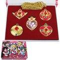 Nueva Sailor Moon Necklace Accesorios 5 pc/lot Caliente Llavero Llavero Collar de Regalo de Navidad Para Niños Envío Gratis