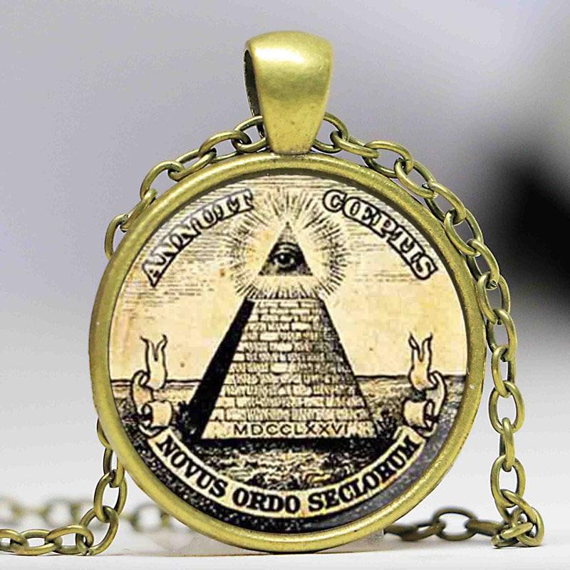 Großhandel Mann Mode Symbol freimaurer Illuminati antiken Druck - Modeschmuck - Foto 2