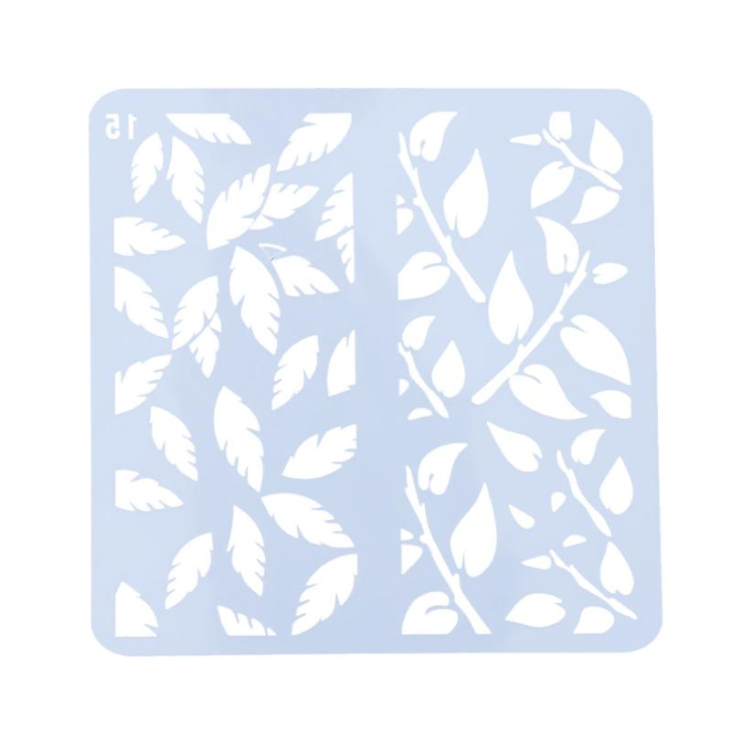 Cultivate children's DIY Manual Craft Leaves Layering Stencils For Walls Scrapbooking Template Stamps Embossing Paper Crafts cutiepie kinds of 0 9 numbers transparent clear stamps for scrapbooking diy silicone seals photo album embossing folder stencils