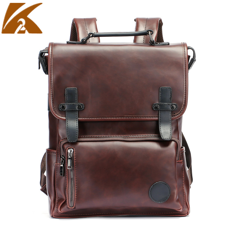 2018 New Fashion Real Crazy Horse Rucksack Male 14 Laptop Shoulder School Bags Genuine Leather Backpack Men Travel Bagpack Bag swdvogan new travel backpack korean women rucksack pocket genuine leather men shoulder bags student school bag soft backpacks