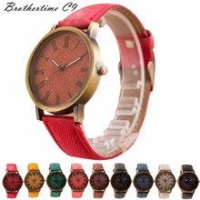 Fashion Lovers Womens Mens Unisex Leather Band Analog Quartz Vogue Bracelet Wrist Watches relojes Gift
