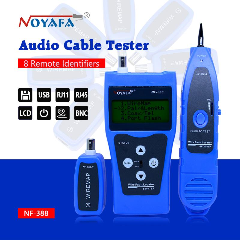 High Quality Cable tester tracker Network wire tester Cable tracker RJ45 RJ11 NF-388 Blue color English version noyafa nf 388 english version multi functional network cable tester remote cable tracker rj45 rj11 lan tester lcd display