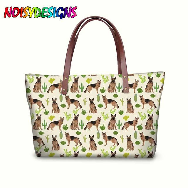 German Shepherd Sunglasses Canvas tote Bag for Women Large Tote Bags Heavy Duty Reusable Grocery Bags Casual Shoulder Handbag for Girls