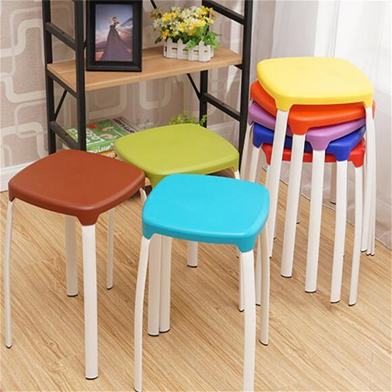 Modern Household Plastic Stool Living Room Dining Stool Fashion Cafe Bar Stool north american fashion bar stool living room dining plastic stool retail and wholesale white black orange color free shipping