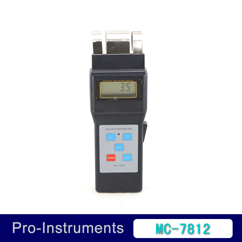 MC-7812 Digital Wood Moisture Meter Wood Humidity sawn timber hardened materials ambient temperature Moisture Tester digital wood moisture meter wood humidity meter damp detector tester paper moisture meter wall moisture analyzer md918 4 80%