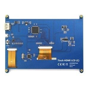Image 4 - 7 inç ahududu pi dokunmatik ekran 1024*600 7 inç kapasitif dokunmatik ekran LCD HDMI arayüzü çeşitli sistemleri destekler arduino için