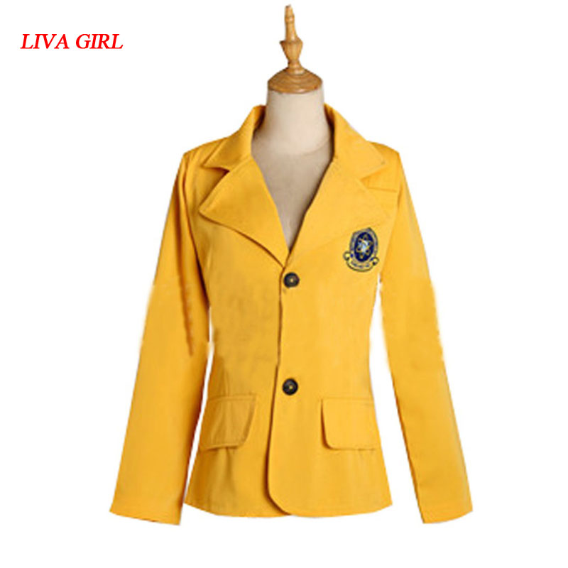 2017 New Movie Spiderman Homecoming Yellow School Uniform Cosplay Top Jacket Costume Any sizes