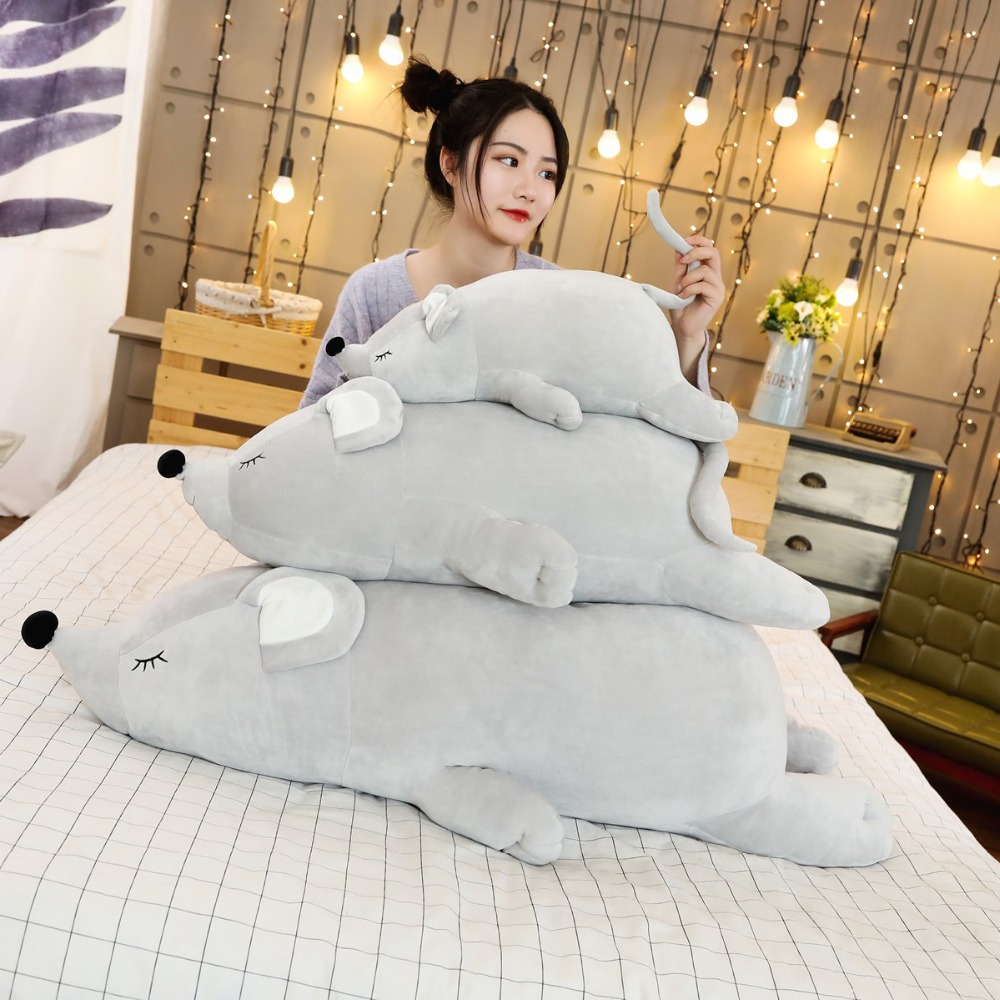 1pc Sleep Pillow Arrival Super Soft Plush Mouse Plushie Doll Stuffed Rat Plush Animal Toy Mascot Peluche For Children