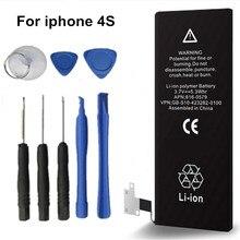 1430 мАч оригинальное качество antirr бренд Стандартный Батареи для Apple IPhone 4S Батарея с Набор отверток #25