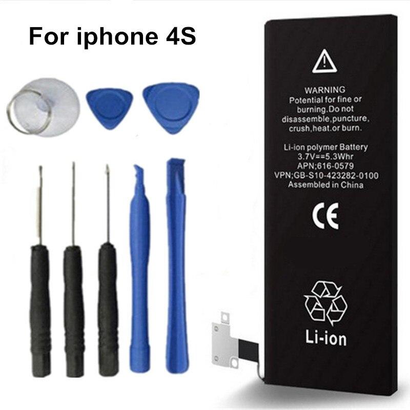 4S mAh batería estándar de calidad Original de marca antirrr para Apple iPhone 1430 con juego de destornilladores #25