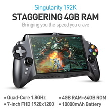 JXD S192K 7 дюйм 1920x1200 Quad Core 4G / 64GB Жаңа GamePad 10000mAh Android 5.1 Tablet PC Ойын консолі 18 симуляторлар / компьютер ойындары