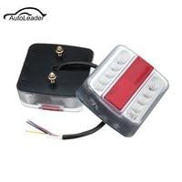 A Pair 12V 24V 14 LEDS Car Styling Tail Brake Stop Turn Signal Running License Plate