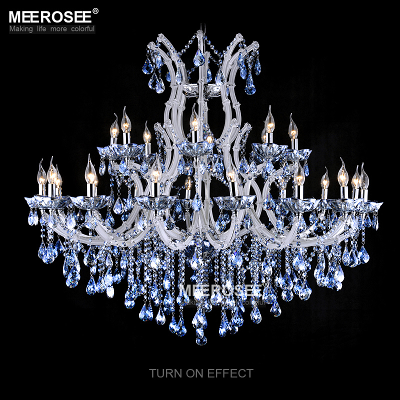 Luxurious blue color maria theresa crystal chandelier lamplight luxurious blue color maria theresa crystal chandelier lamplightlighting fixture large white chandelier lusters d1200mm h1000mm in chandeliers from lights aloadofball Image collections