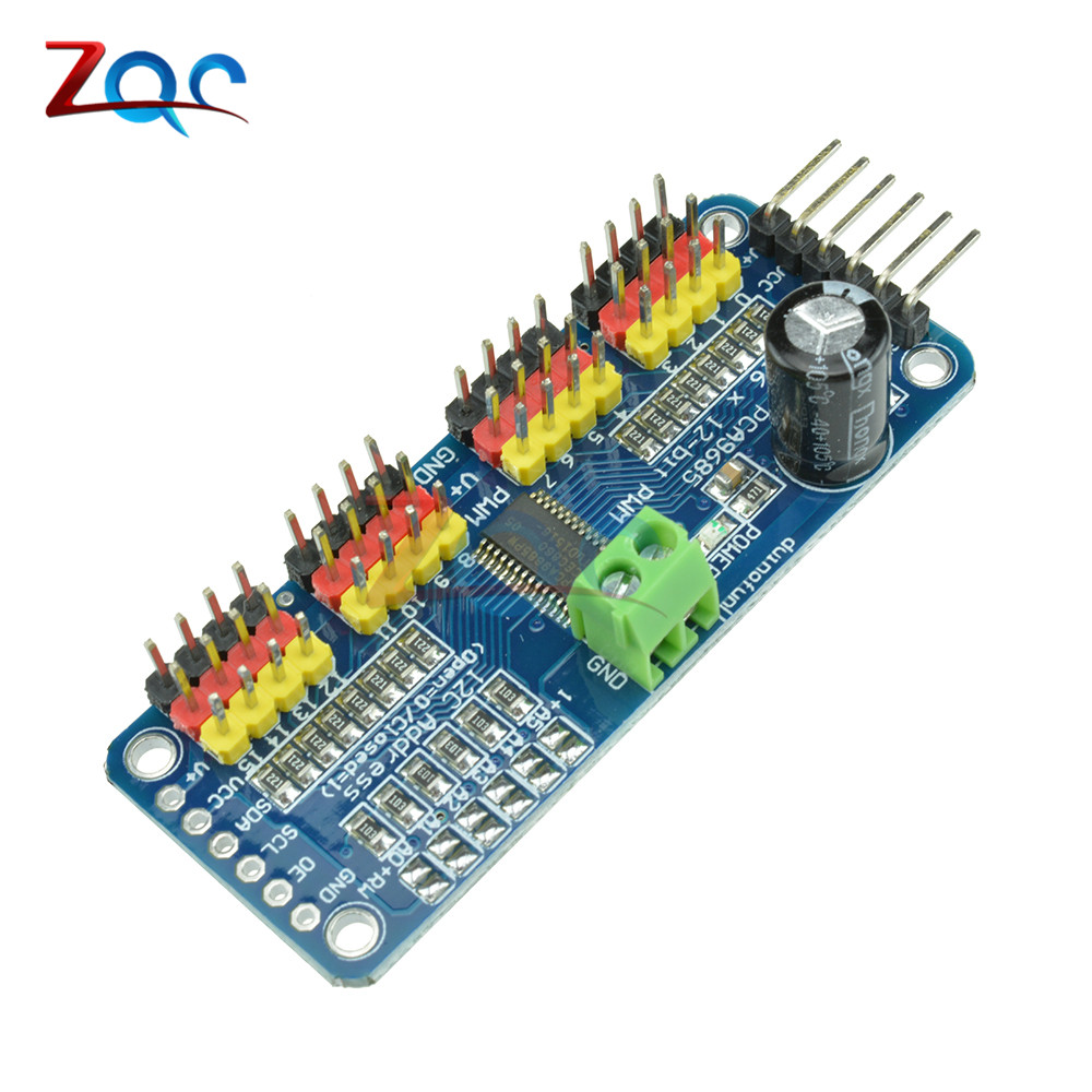 16 Channel 12-bit PWM/Servo Driver-I2C Interface PCA9685 Module Raspberry Pi Shield Module Servo Shield For Arduino Raspberry Pi