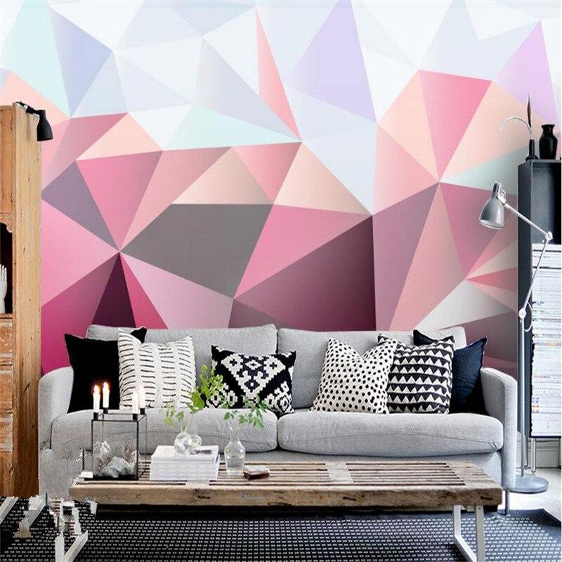 custom modern 3d photo wallpaper stereo effect simple living room ...