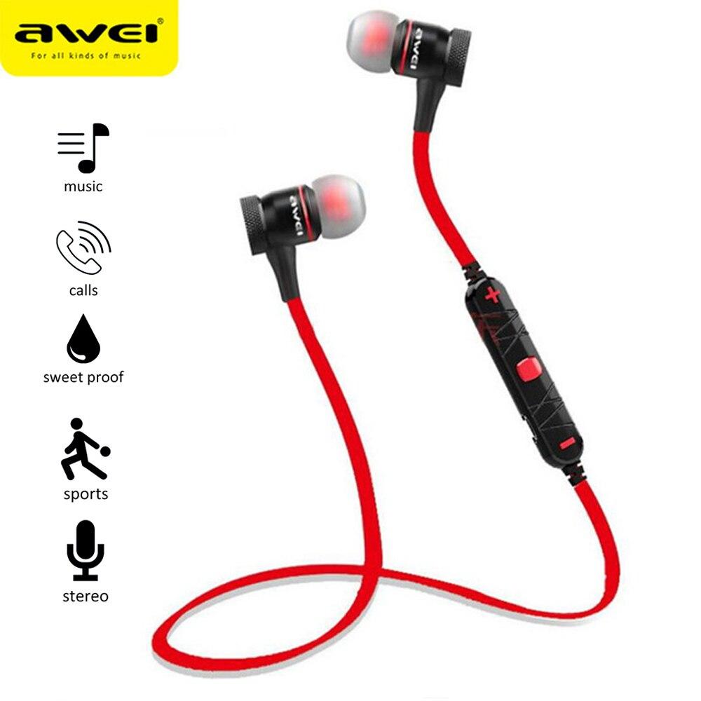 NEW Awei A920BL Sport Kopfhörer Smart Wireless Bluetooth 4,0 Stereo Stimme Noise Reduktion Sport Lauf Kopfhörer Mit Mikrofon