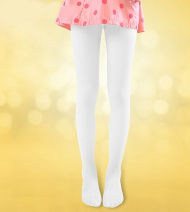 Velvet children pantyhose child baby girls leggings dance sox white thin silk stockings