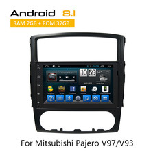 В-dash мультимедиа для Mitsubishi Pajero V97/V93 Поддержка Wi-Fi 3g Камера Вход Радио RDS стерео AUX Bluetooth gps tracker