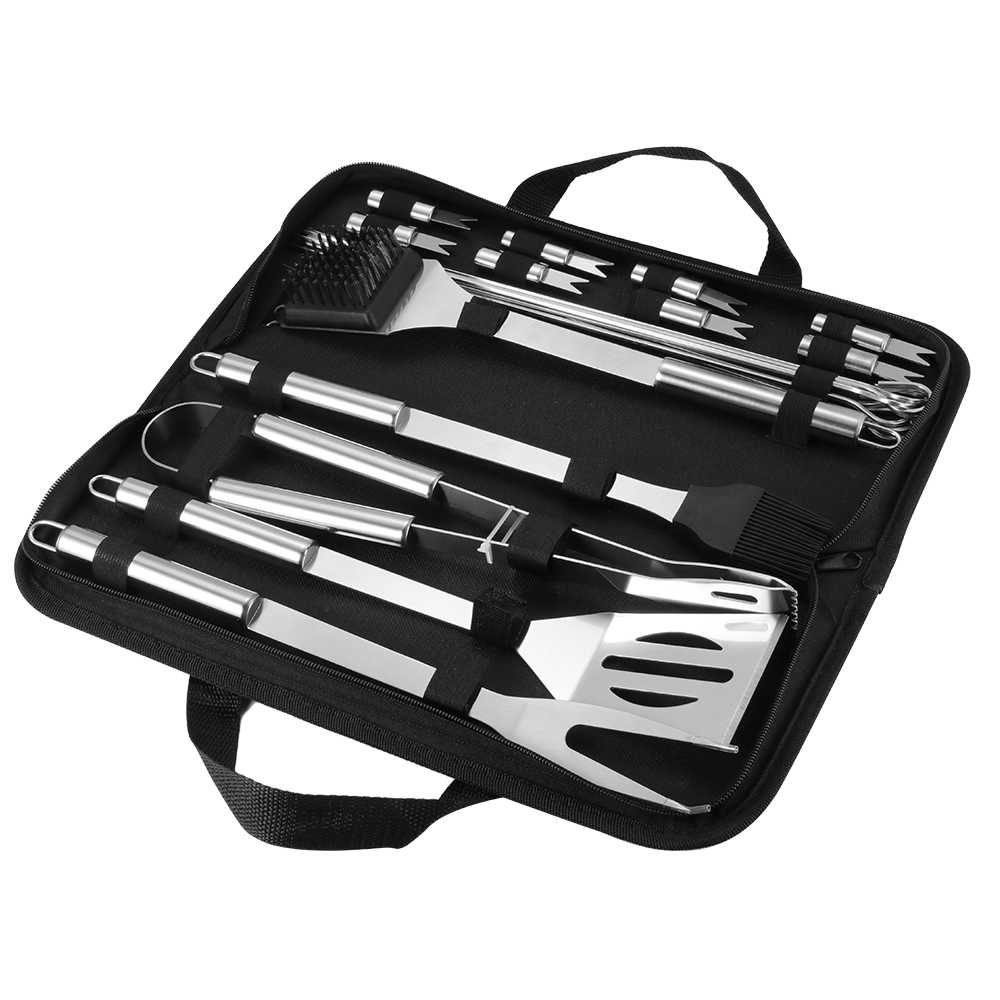 Home BBQ Grill Tool Set Stainless Steel Barbecue Grill Accessories Utensils Kit In Portable Case