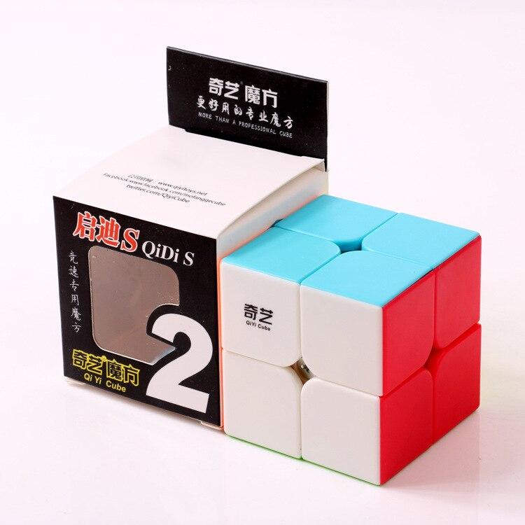 Qiyi QiDi S 2x2 Magic Cube Cubo Magico Speed Cube Stickerless 2x2x2 Magic Cube Puzzle Fidget Educational Toys For Children Kids