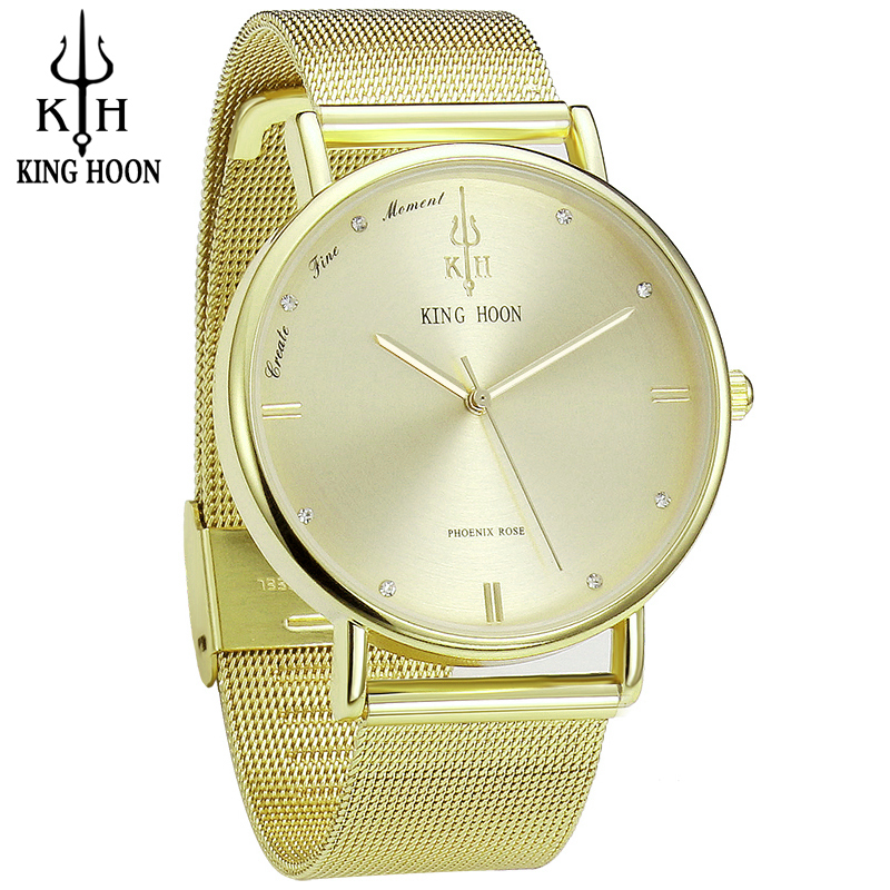 Lady Quartz Ladies Wristwatch Round Gold Rhinestone Dial Brand luxury Waterproof full Stainless Steel Watch Women Dress watches binger trendy women man steel rhinestone watch luxury brand design cz diamond watches white big dial 200m waterproof wristwatch
