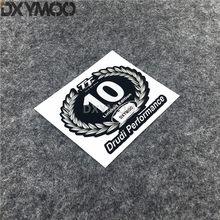 Autocollant en vinyle de style de voiture pour casque de moto, Champion du monde 10, édition limitée, pour TT island of man Drudi Performance, 10x8cm