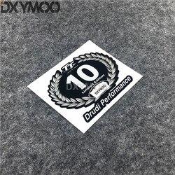 World Champion 10 Limited Edition Helmet Motorcycle Car Styling Vinyl Decal Sticker for TT isle of man Drudi Performance 10x8cm