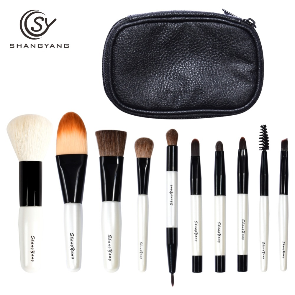 SY Professional Mini Size Makeup Brush Set For Cosmetic Beauty Tools Portable Travel Brushes sy 8pcs portable professional makeup brushes set for bb cream powder beauty makeup