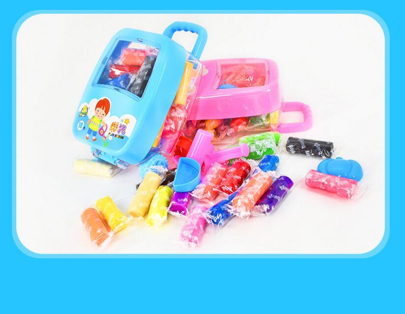 Puzzle Per Bambini Giocattolo Di Creta Di 18 Di Colore Fango Trolley Caso Di Imballaggio Per Bambini Fai Da Te Plastilina Un Cinetica Sensoriale Di Arte Rinfrescante E Arricchente La Saliva