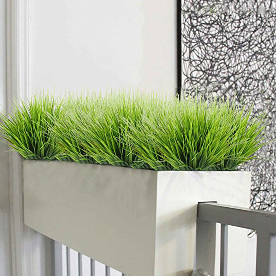 Artificial Outdoor Plants Fake Plastic Greenery Shrubs Wheat Grass