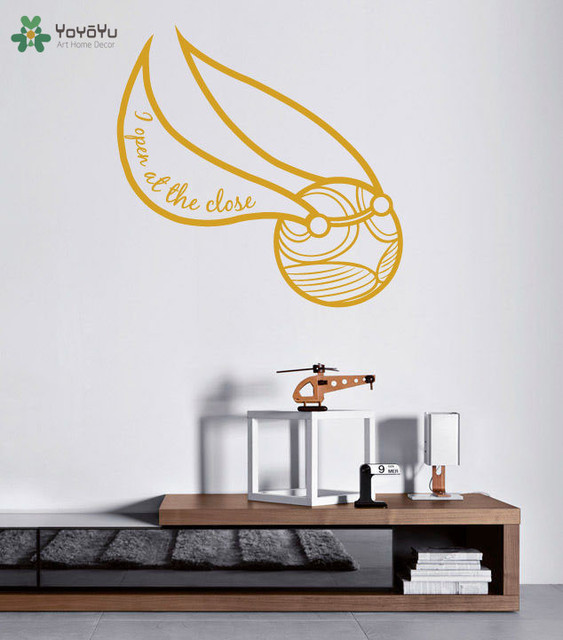 Harry Potter Wall Sticker The Golden Snitch Pattern Wall Decal Hogwarts  Removable Home Decoration Accessories Kids