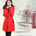 Modelos de Casaco de inverno Jaquetas 2014 de Alta Qualidade Da Marca Das Mulheres No Longa Seção Acolchoado Acolchoado Modelos Femininos Novo Inverno jaqueta